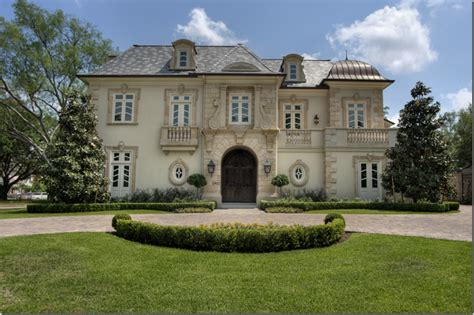 french chateau french home exterior robert dame designs cote de texas a beautiful showcase house sold