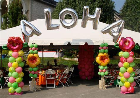 hawaiian themed outdoor decor outside decor knoxville decor knoxville balloons