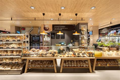 home design stores milan carrefour gourmet market by interstore design and