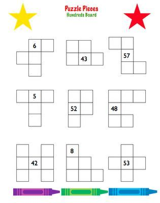 printable hundreds chart puzzles here s a set of 4 different hundred board puzzles for
