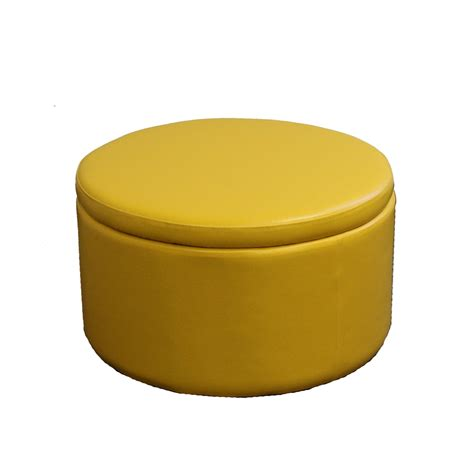 13 5 Quot H Yellow Storage Ottoman W 4 Seating Yellow Storage Ottoman
