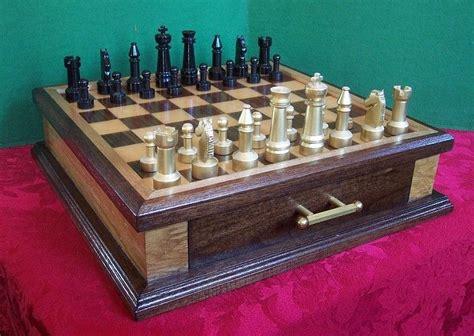 Handmade Chess - handmade custom chess set in walnut maple and steel by