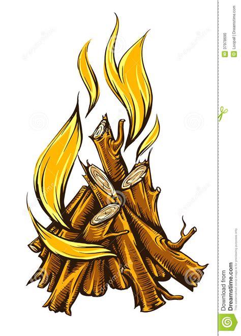 chamã le fogo da chama da fogueira lenha foto de stock imagem