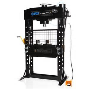 A Frame Plans Free by 75 Ton Hydraulic Press With Two Speed Hand Amp Air Pumps