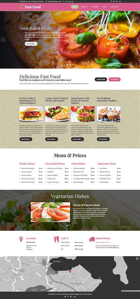Fast Food Template Hotthemes Food Template
