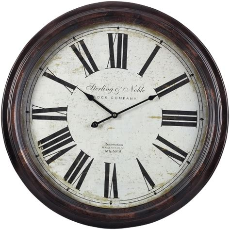 sterling  noble oversized   wall clock  hayneedle