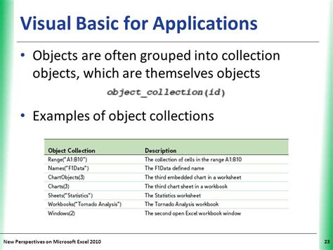 tutorial microsoft visual basic for applications tutorial 12 enhancing excel with visual basic for