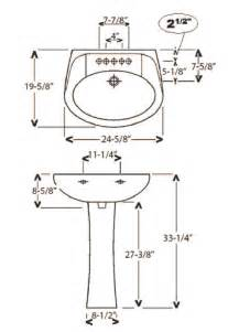 Pedestal Sink Dimensions Barclay Porcelain Regular And Corner Pedestal Sinks