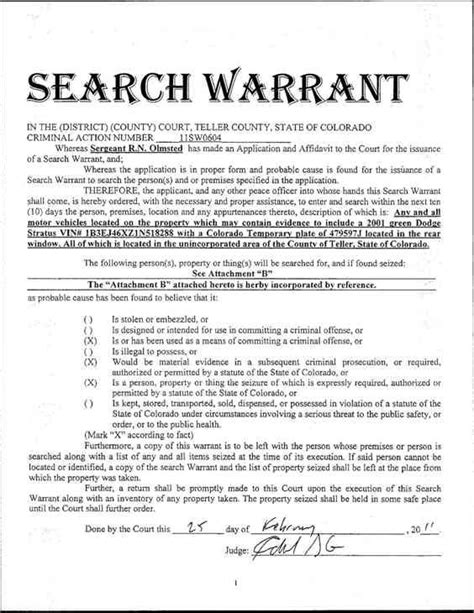 A Search Warrant Mr Bruce S History Bill Of Rights Mccaca19