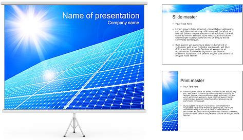 solar presentation template solar panel and sun powerpoint