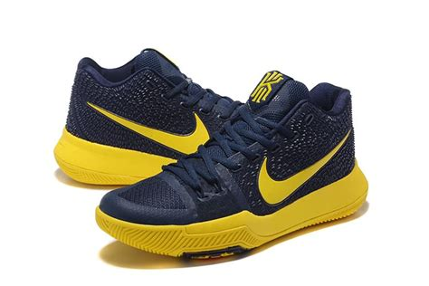 closeout basketball shoes brillian authentic nike kyrie irving 3 deepblue yellow