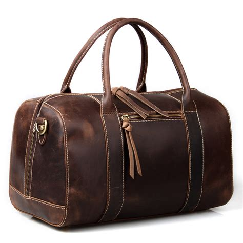 Handmade Travel Bags - handmade vintage leather duffle bag travel bag bag