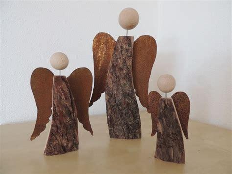 Vorlage Engel Modern Rinden Holzengel Mit Rostfl 252 Gel Holz Und Ich Auf Dawanda Engel