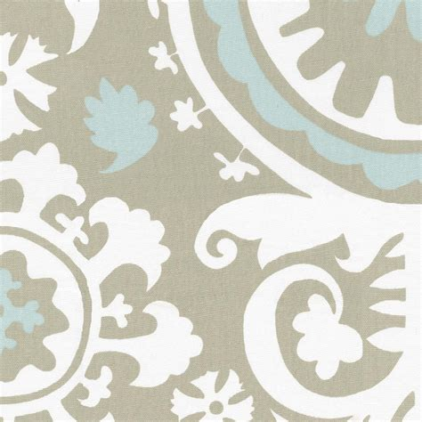 Crib Bedding Fabric Taupe Suzani Fabric By The Yard Blue Fabric Carousel Designs