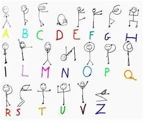 lettere dell alfabeto stilizzate progetto teatro