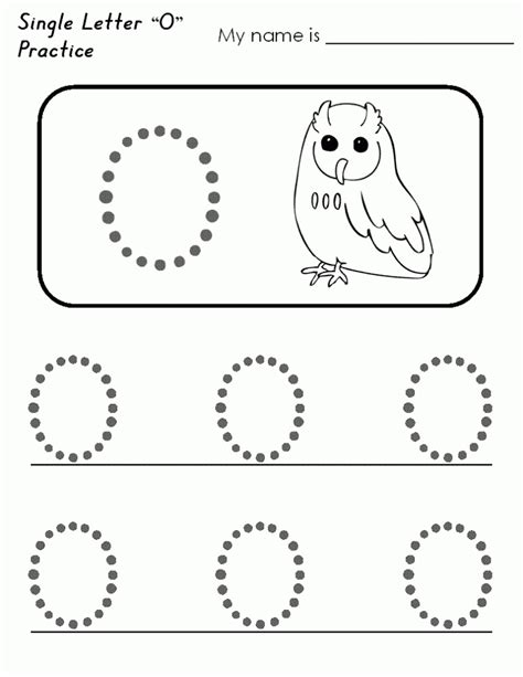 worksheet alphabet o free printable letter o worksheets for kindergarten
