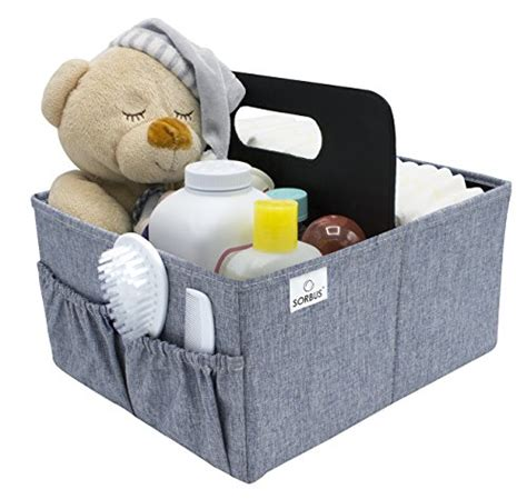 sorbus baby organizer caddy with handle luxury storage for diapers baby wipes supplies