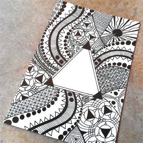pattern for drawing around triangle pattern drawing photo art print by