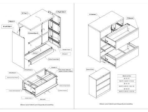 Archival Section by Cabinet Section Drawing