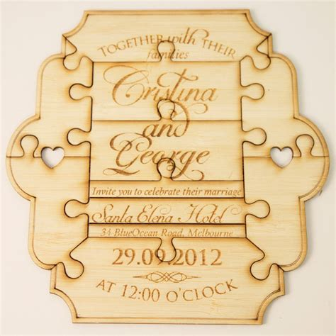 Wedding Invitation Jigsaw Puzzle by Wedding Invitations Million Puzzle Made From