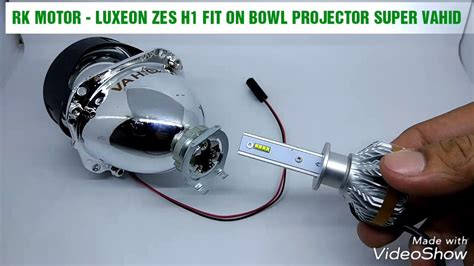 Led Luxeon Motor test led h1 luxeon zes fit on bowl projector vahid