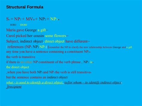 sentence pattern formula basic sentence transformations