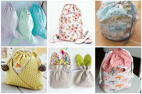 easy drawstring bag patterns  sew   hour