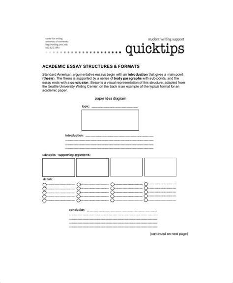 Academic Essay Template by Academic Essay Sle 7 Exles In Word Pdf