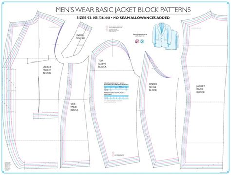 jacket pattern making books mens tailored basic jacket block sew essential