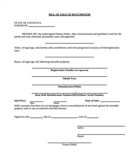 bill of sale for boat motor and trailer 33 bill of sale forms in pdf