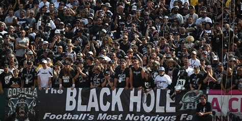 oakland raiders fan experience the 3 nfl fans bases that are the most loyal