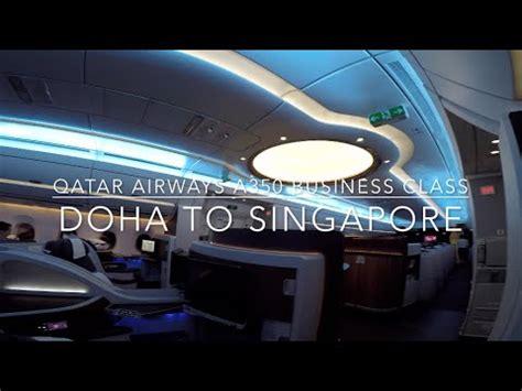 qatar airways  business class doha  singapore youtube