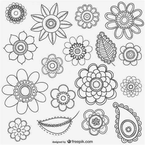 imagenes en blanco y negro flores dibujos de flores en blanco y negro descargar vectores