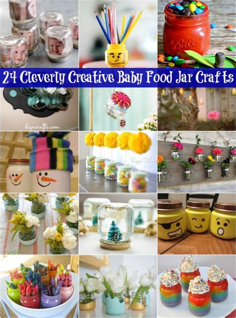 diy baby food jar crafts 24 cleverly creative baby food jar crafts it s all about