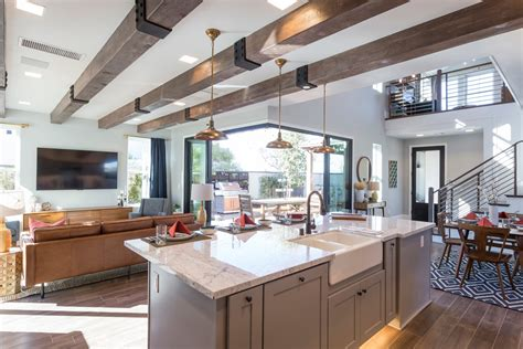 Amazing Open Concept Floor Plans For Small Homes #7: Contemporary-farmhouse-open-kitchen-space-5-HR.jpg