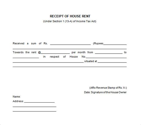 house rent receipt template 26 rent receipt templates doc pdf free premium