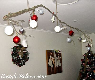 hanging christmas ornament tree branch