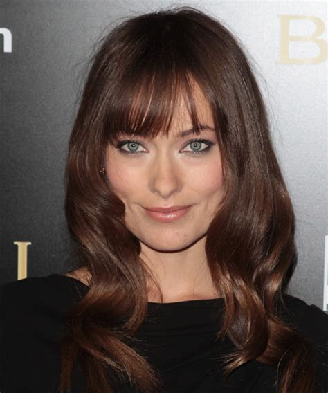 hairstyles for short hair olivia grace olivia wilde long wavy casual hairstyle with blunt cut