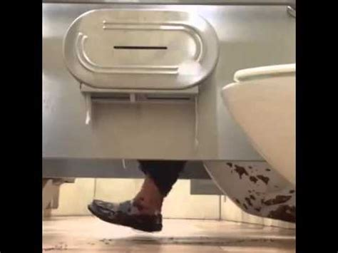 how to poop in a public bathroom hilarious poop prank in public toilet youtube