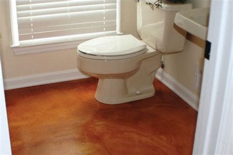 stained concrete bathroom floor like pinterest