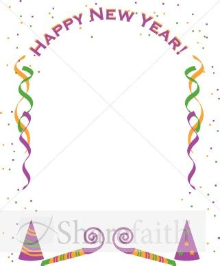 new year printable border page boarder year clipart clipart suggest