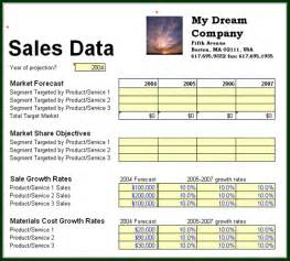 sle of business plan template business planning sales data