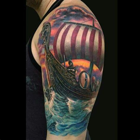 25 best ideas about viking ship tattoo on pinterest