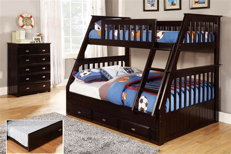 discovery world furniture twin  full espresso mission bunk bed kfs stores