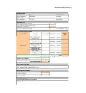 Project Reporting Template Excel by Weekly Report Template 10 Free Word Excel Pdf