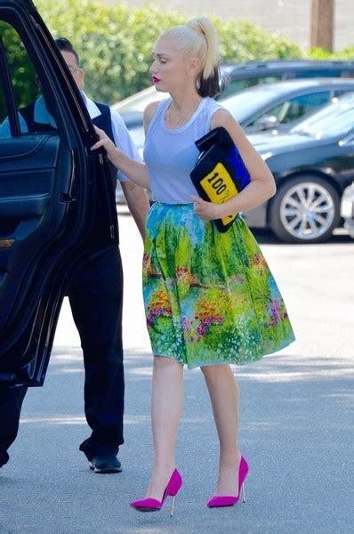 Gwen Skirt gwen stefani knee length skirt gwen stefani looks