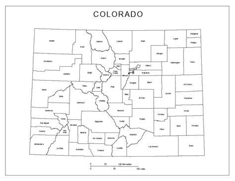 blank map of colorado colorado labeled map