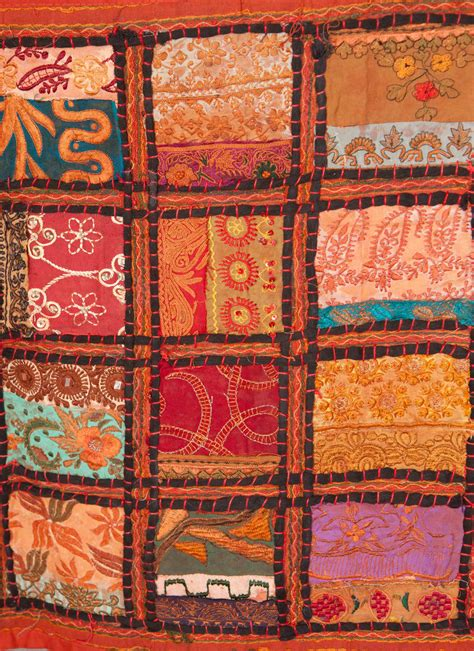 Patchwork Tapestry - the sound of terra cotta patchwork tapestry