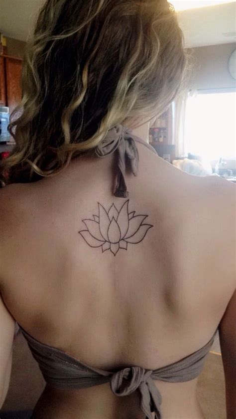 small flower tattoos on back shoulder best 25 simple lotus flower ideas on