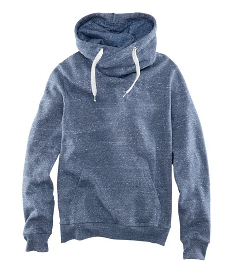 Hoodie M lyst h m hooded sweater in blue for